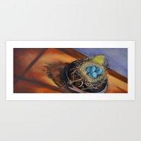 Bird's Nest Delight Art Print