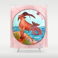 capricorn Shower Curtains featuring Capricorn by Sandra Nascimento