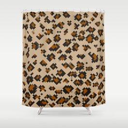 Pixelated Leopard Shower Curtain