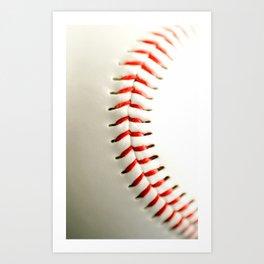 Base Ball Close Up Art Print
