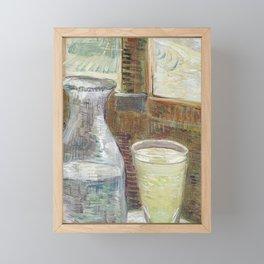 Café table with absinth Framed Mini Art Print
