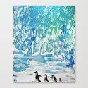 Penguin Family on Thin Ice by anoellejay