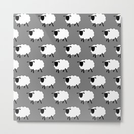 The Flock Metal Print