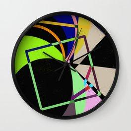 Retro Pastel X - Abstract, geometric, scandinavian pattern artwork Wall Clock