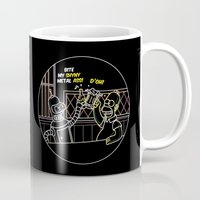 homer Mugs featuring Bender & Homer Neon Toast by MaNia Creations