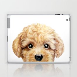 Toy poodle Dog illustration original painting print Laptop & iPad Skin