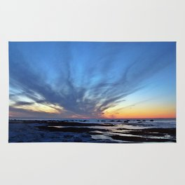 Cloud Streaks at Sunset Rug