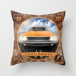 Challenger 70 Throw Pillow