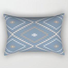 Navajo Pattern - Denim / Nude Rectangular Pillow