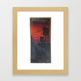 Suburban Sublime Framed Art Print