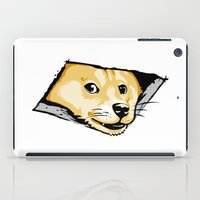 doge iPad Cases featuring Ceiling Doge by Jimiyo