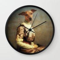 bambi Wall Clocks featuring Bambi by Martine Roch