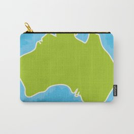 map of Australia Continent and blue Indian Ocean. Vector illustration Carry-All Pouch