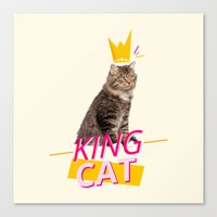 kit king Canvas Prints featuring King Cat by Kit & Cat