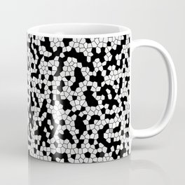 Mosaic pattern white and Black Coffee Mug