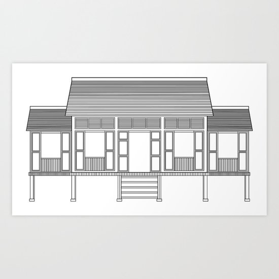 Rumah Kampung 2 Art Print