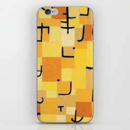 Paul Klee - Signs In Yellow iPhone Skin