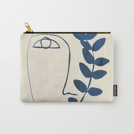 Abstract Face 5 Carry-All Pouch