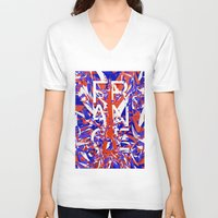 france V-neck T-shirts featuring France by Danny Ivan