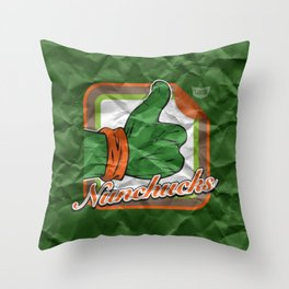 Nunchucks Throw Pillow