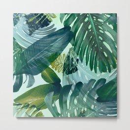 Jungles greens, banana leaf, tropical, Hawaii decor Metal Print