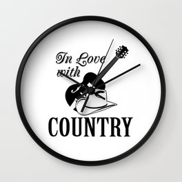 In love with country Wall Clock