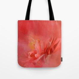 Salmon Hibiscus 3 - Floral Tote Bag