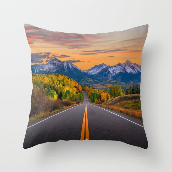 The Road To Telluride Throw Pillow