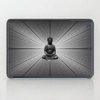 buddah iPad Cases featuring Spacial Energy Buddah Mesh by Federico Sananes