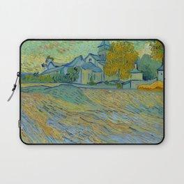 """Vincent van Gogh """"Vue de l'asile et de la Chapelle de Saint-Rémy"""" Laptop Sleeve"""