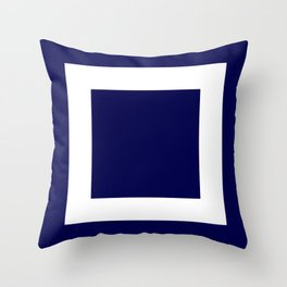 Classic Navy Blue Frame Throw Pillow