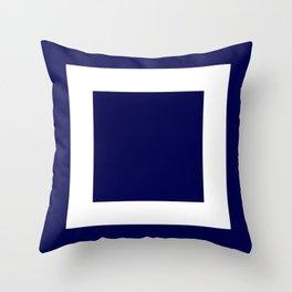Classic Navy Blue Frame Throw Pillow