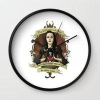 buffy the vampire slayer Wall Clocks featuring Drusilla - Buffy the Vampire Slayer by muin+staers