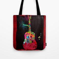 graphic guitar Tote Bag