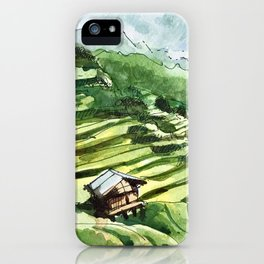 Vietnam Terrace Fields iPhone Case