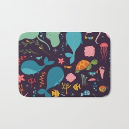 Sea creatures 001 Bath Mat