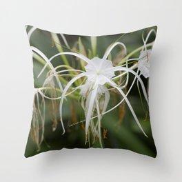 God's design white flower Throw Pillow