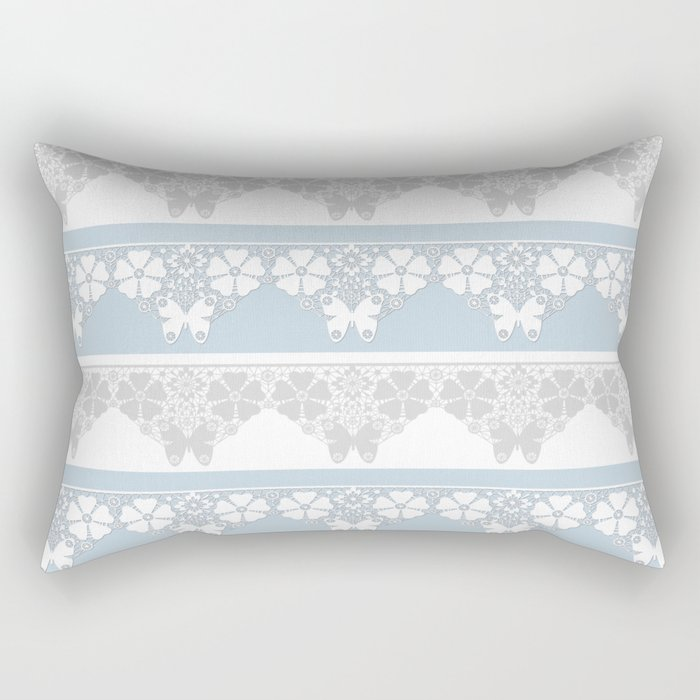The blue lace . Rectangular Pillow