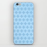 scandinavian iPhone & iPod Skins featuring Scandinavian blue by There is no spoon