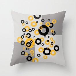 Retro Vintage Design with Rings Throw Pillow