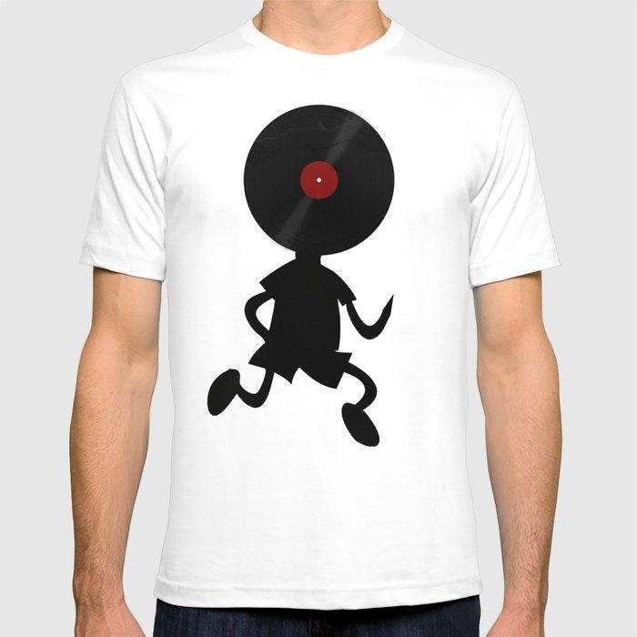 Vinyl Record Man - Vinylized! Vinyl Records Retro Grunge Music Vintage DJ  Art T-shirt by denismarsili
