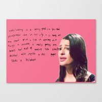 glee Canvas Prints featuring glee 1 by Willow Summers