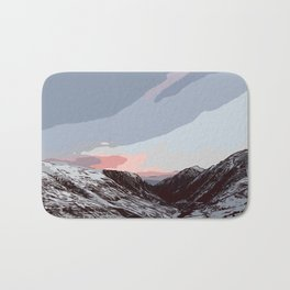 Beautiful sunrise in Andorra Bath Mat