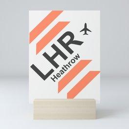 London airport 1 Mini Art Print