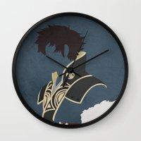 fire emblem Wall Clocks featuring Lon'qu / Lonqu Fire Emblem Awakening by MKwon