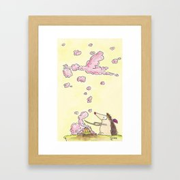 Birth of a Baby Girl greeting card by Nicole Janes Framed Art Print