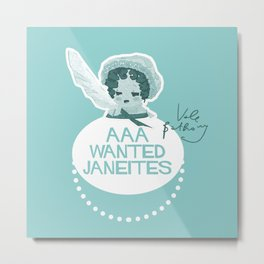 Wanted Janeites Metal Print