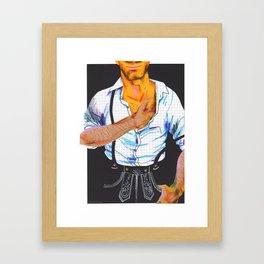 Pappkameraden: Anton Framed Art Print