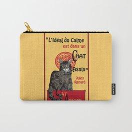 Cat - Le Chat noir - Citation - Quote - main coon - Paris - cabaret - Montmartre - caricature  Carry-All Pouch