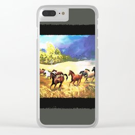 Horses Running With the Wind Clear iPhone Case